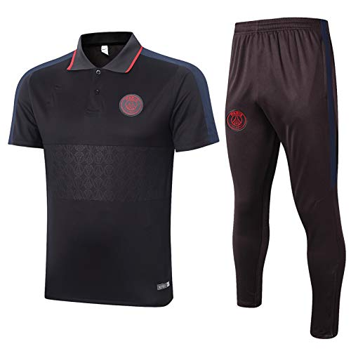 Qinmo Aspecto Jersey Paris Fútbol para Hombre Camisetas Camisetas de fútbol Jersey de Manga Corta Chaqueta de chándal, Movimiento al Aire Libre Ventilador a Prueba de Viento Regalo (Size : M)