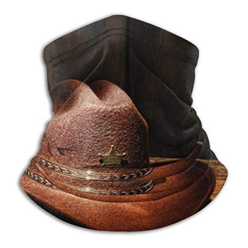 Niet toepasbaar Wild West Cowboy outfit halsmanchet warmer winddicht masker stof gezicht kleding UV gezichtsmasker bivakmuts sjaal voor outdoor sport zwart