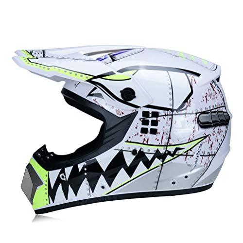 Casco de Motocross Visor Full Face Off Road Motocicleta Casco de Motocross ATV Dirt Bike Downhill MTB DH Racing Casco Cross Helme DOT