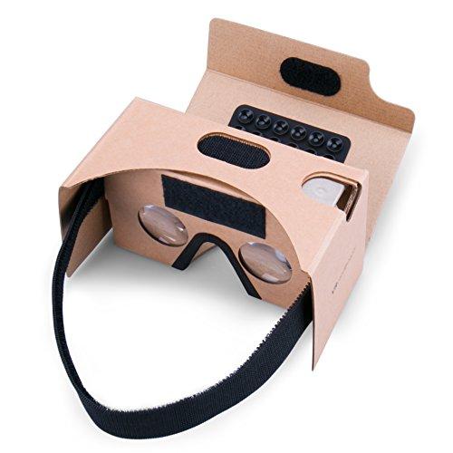 Google Cardboard Virtual Reality Brille, Splaks Mit Magnete Stirn- und Nasenpolster 3D VR Brille Virtuelle Realität Brille DIY VR-HMD / VR-Case geeignet für 4 bis 5,5 Zoll Android und iPhone 7 Smartphone
