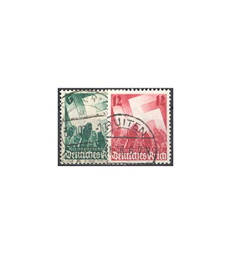 Goldhahn Deutsches Reich Nr. 632-633 gestempelt Hakenkreuz und Hände 1936 Briefmarken für Sammler