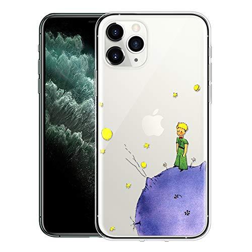 """Yoedge Cover Apple iPhone 12 PRO / 12 6,1"""" Antiurto Custodia Trasparente con Disegni [The Little Prince] Ultra Slim Protective Case Bumper in TPU Silicone per Apple iPhone 12 PRO 6,1"""" (Porpora)"""