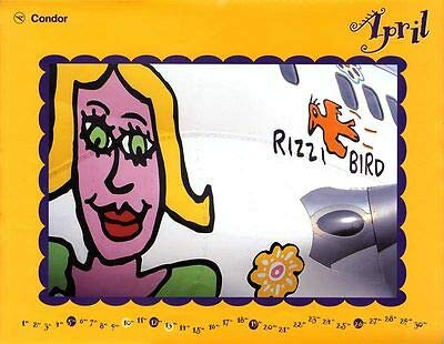 Kunstdruck Poster Plakat James Rizzi Condor Kalender 1998 April Bird auf Boeing 757 Popart