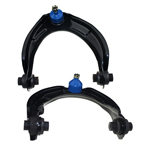 Detroit Axle - Both (2) Front Upper Driver & Passenger Side Control Arm and Ball Joint Assembly - 10-Year Warranty