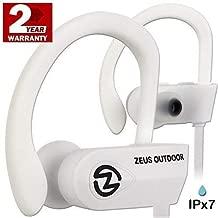 ZEUS Bluetooth Headphones Wireless - Mens Womens Running Headphones - Best Sports Wireless Earbuds Earphones - IPx7 Wireless in-Ear Headphones - Sport Bluetooth Headphones (up to 10 h) (White)