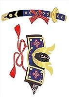 igsticker ポスター ウォールステッカー シール式ステッカー 飾り 210×297㎜ A4 写真 フォト 壁 インテリア おしゃれ 剥がせる wall sticker poster 015269 こどもの日 鯉のぼり 兜 熊