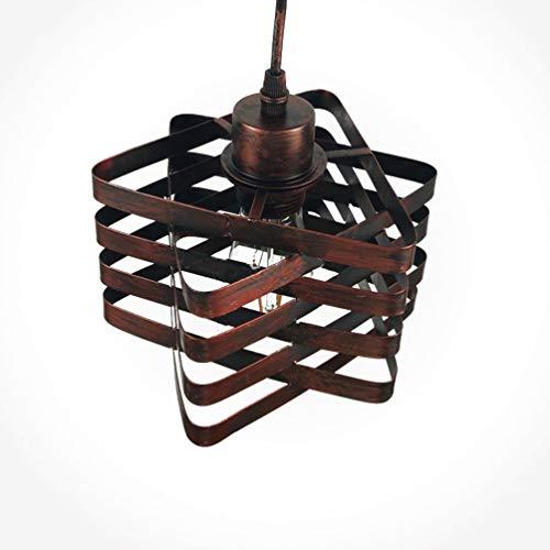 Vintage Industriell Suspension en fer à suspendre style industriel pour cuisine Cafe Internet Cafés Bar rouge