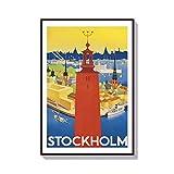27,9 x 35,6 cm Holz Wandschild Wandkunst Zitate Stockholm