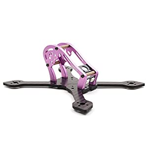 GEPRC Sparrow 139MM FPV Frame with RGB LED 3K Carbon Fiber Frame 3mm Thickness Support RUNCAM Swift Mini and Micro Swift Lens for Racing Quadcopter Drone(GEP-MX3)