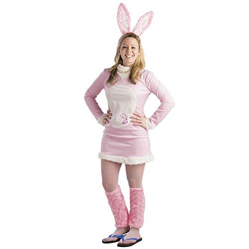 Dress Up America Disfraz de Conejito de Rosa Energizante Conejito Dress para Mujer