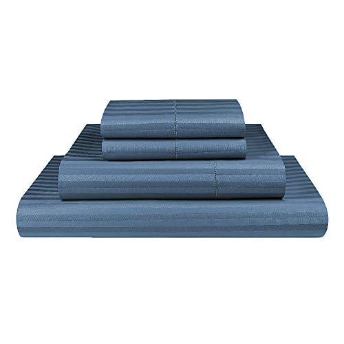 Luxor Linen 1000TC Ultra Soft Microfibre Sheet Set (1000TC-MIC-1CM-SS-D-OCE), Ocean, Double