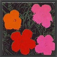 ポスター アンディ ウォーホル Flowers I 額装品 ウッドベーシックフレーム(ブラック)
