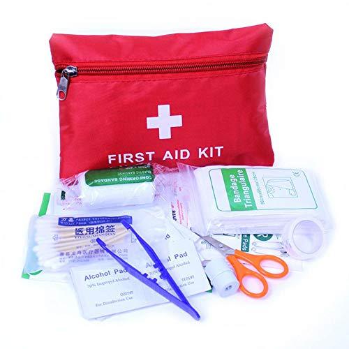 Fliyeong Botiquín de Primeros Auxilios: Compacto para emergencias en el hogar, Aire Libre, automóvil, Camping, Lugar de Trabajo, Excursionismo y Supervivencia.