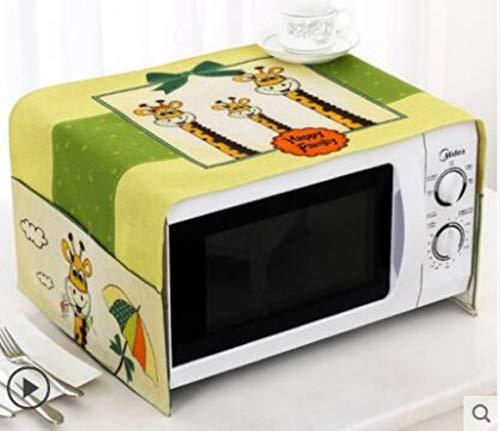 Gouen Housse de Protection pour Micro-Ondes en Coton et Lin avec étui Cuisine Poussière d'huile Étanche Double Poches Accessoires de Cuisine, Q, 100CM X 35CM