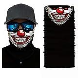 ADKO Bandana Funny Face Masks For Adults Clown Mask Neck Gaiter Clown Face Mask Tube Headband Headwear Balaclava