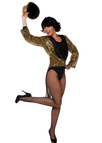 Magic Box Womens Or Sequin Showgirl Queue-de-Pie Medium (EU40 UK12)