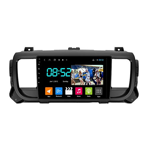 Autoradio 2 Din Android Bluetooth Radio De Coche 9'' Pantalla Táctil Wifi Plug And Play Completo RCA SWC Soporte Carautoplay/GPS/DAB+/OBDII Para Citroen Jumpy 3 SpaceTourer,Octa core,4G Wifi 6G+128G