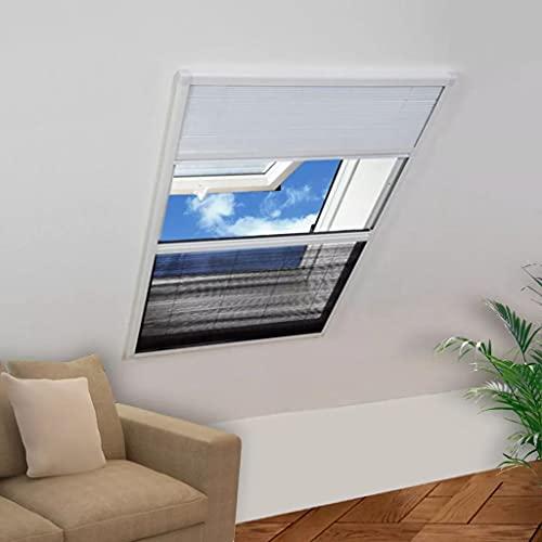 Finestra per Insetti Finestra Plisse 160 x 110 cm in Alluminio con OmbraCasa e Giardino Arredo Trattamenti per finestre Rete per zanzare