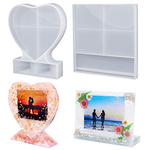 LET'S RESIN Resin Photo Frame Molds, Large Size Silicone Picture Frames Resin...
