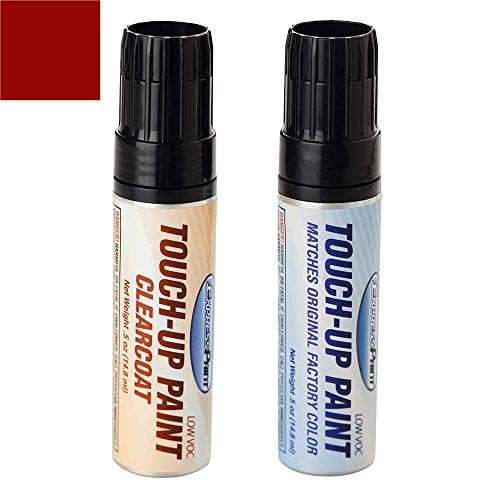 ExpressPaint Half-Ounce Jar - Automotive Touch-up Paint for Ford All - Candy Apple Red T (1970) - Color + Clearcoat Package
