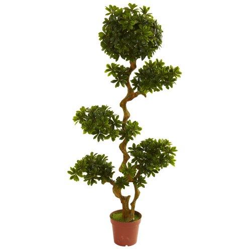 Nearly Natural 5393 Pittispourm UV Resistant Tree, 5-Feet, Green,59' x 14' x 10'
