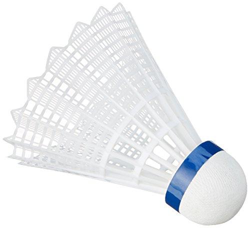 VICTOR Ball Shuttle 3000-Medium Badminton-nylonball, WEIß, 6er Dose