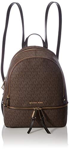 Michael Kors Damen Rhea Zip Backpack, Zweifarbig, M