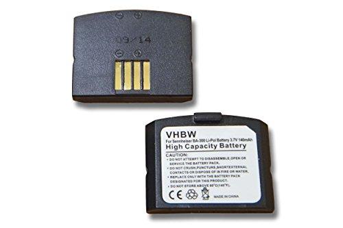 vhbw 2X batería Compatible con Sennheiser Set 833 TV, Set 843 TV Auriculares inalámbricos Cascos (140mAh, 3,7V, polímero de Litio)