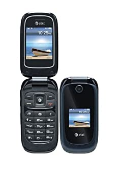 ZTE Z221 Unlocked GSM Flip Cell Phone - Black