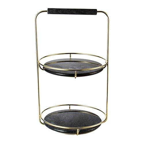 Support de stockage d'huile essentielle, salon rack salle de bain cosmétique stockage chambre finition rack coiffeuse bijoux cuisine dessert rack ( Color : Black , Size : 26*40cm )