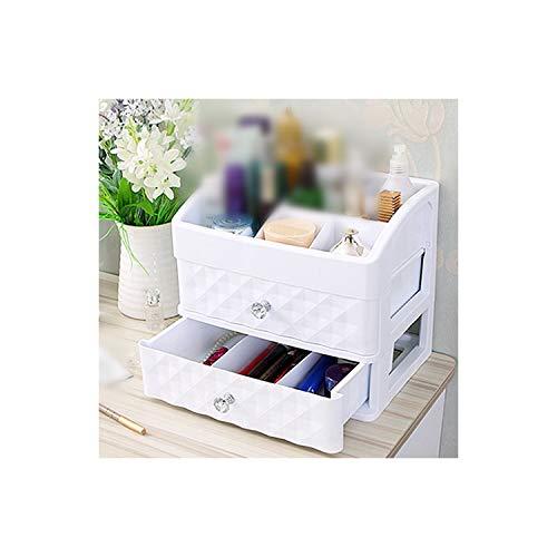 Boîte de rangement en plastique avec tiroir pour maquillage, cosmétiques, ongles, pinceaux et rouges à lèvres, Blanc M, size