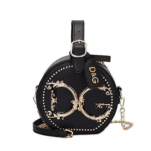 Mdsfe Ladies shoulder bag small wallet clutch girl handbag messenger bag rivet female bag - Black