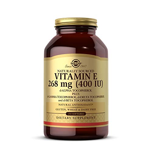Solgar Vitamina e 268 Mg (400 Ui) Cápsulas Blandas, 250 cápsulas