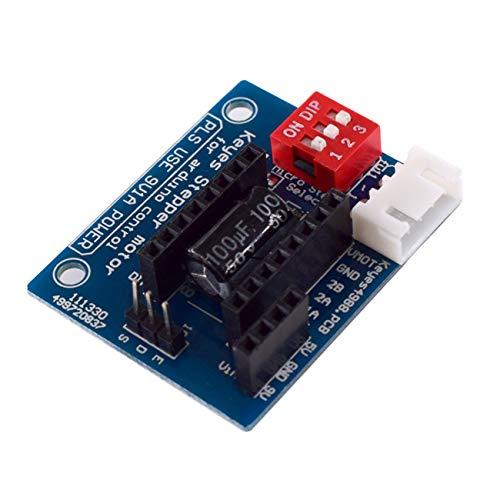 FYstar 1PC HW-434 A4988 DRV8825 Schrittmotortreiber-Bedienfeldplatine Erweiterungsschildplatinenmodul für 3D-Drucker (blau)
