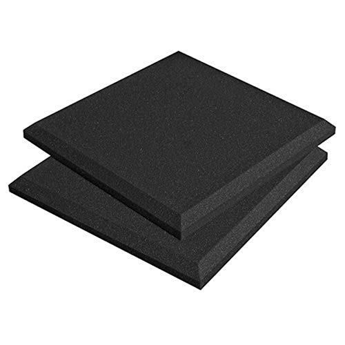 Auralex Acoustics SonoFlat Acoustic Absorption Foam, 2' x 24' x 24', 16-Panels, Charcoal