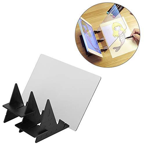 ADDG Beweeglijke optische tekening, projector-tracking-optische projectietekenplank, schets, spiegel blik op tabel gekopieerd reflectie-lichtbeeld bord met houder voor mobiele telefoon