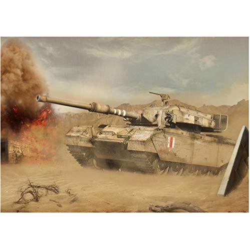 WDQFANGYI Carteles De Juegos En HD De World of Tanks, Pintura En Lienzo, Sala De Estar, Dormitorio, Bar, Decoración De Pared para El Hogar, 50X70Cm (FLL5876)