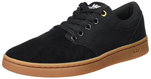 Supra Unisex Chino Court Sneaker, Schwarz (Black-Gum), 42 EU