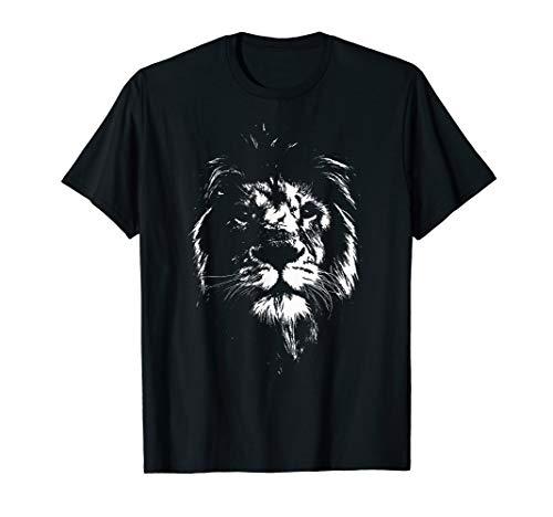Löwe Afrika Löwen Shirt Tiere Löwenkopf Löwenmähne Geschenk T-Shirt
