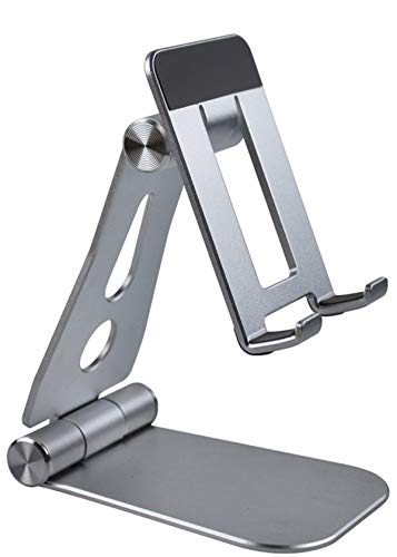 Tintelek タブレット スタンドホルダー 角度調整可能 対応スマホ & タブレット (4〜13インチ)for iPhone, Phone, iPad Pro, iPad mini, Nintendo Switch, kindle, Huawei, Samsung等。(銀)