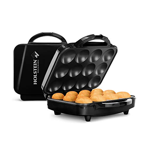 Holstein Housewares Non-Stick Maker, Makes 12 Cupcakes, for Birthdays, Holidays, or Special Occasions, Black
