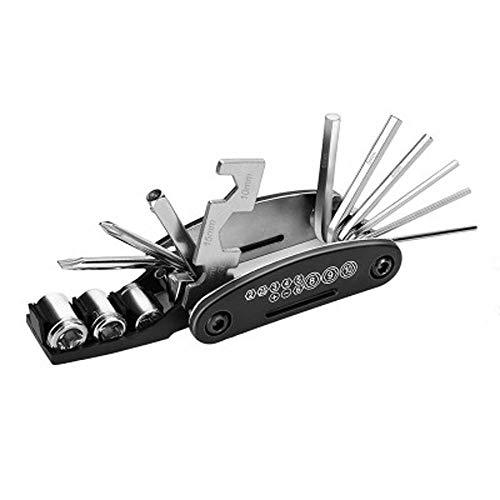 UIME 16 in 1 Multi-Function Bike Tool,All in One Mountain Bike Folding Aluminum Alloy Hex Spoke Repair Bicycle Tool Kit Screwdriver Multi-Tool