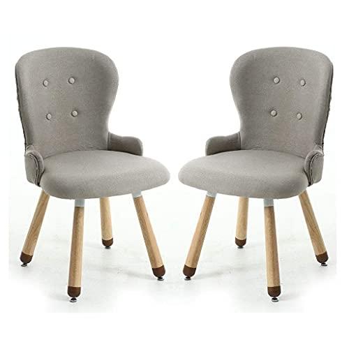 WYBW Home Dining Chair, Innovative Esszimmerstühle, Stoff gepolsterte Küchenstühle mit hoher Rückenlehne, Schlafzimmer Wohnzimmer Wood Legs Restaurant Hotel Tagungsraum,B,2