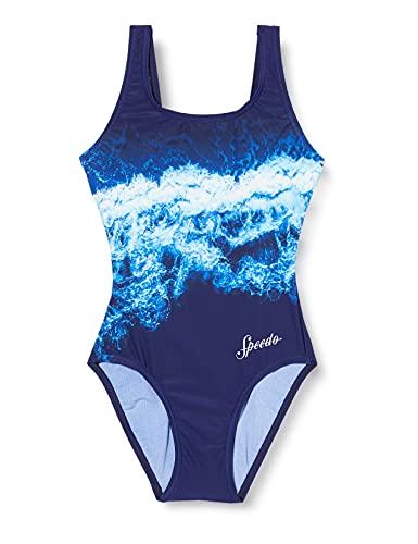 Speedo Waverider U-Back, Costume da Bagno Donna, Black, 34 (IT 44)