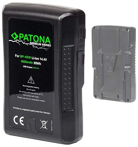 PATONA Premium V-Mount - Ersatz für Akku Sony BP-95W mit 6600mAh und 95Wh (somit unter den magischen 100Wh nach EU-Flugrichtlinie)
