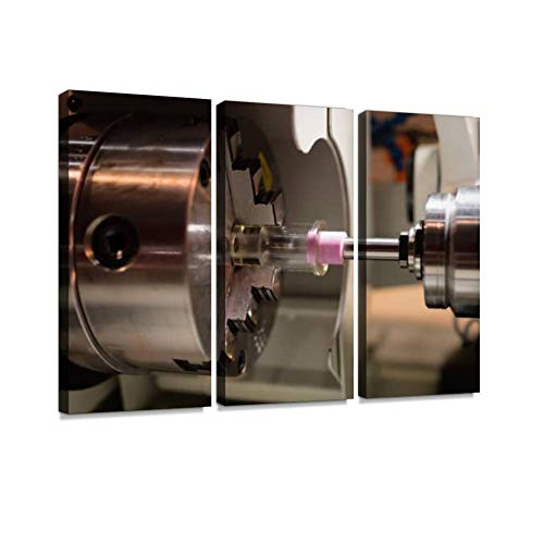 CNC milling Machine in Industrial CNC millings and Pictures Wall Art Painting Pictures Print On Canvas Stretched & Framed Artworks Modern Hanging Posters Home Decor 3PANEL