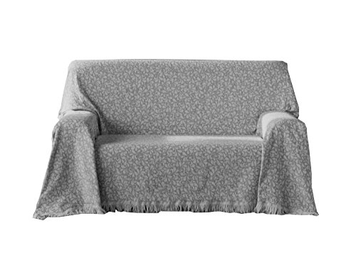 Zebra Textil Oregon Multipurpose Plaid, Baumwolle, Grau, 180x260 cm