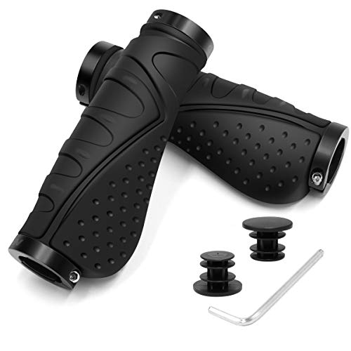 REETEE Bicycle Handlebar Grips Aluminium Screw Double Lock Bike Grips,...