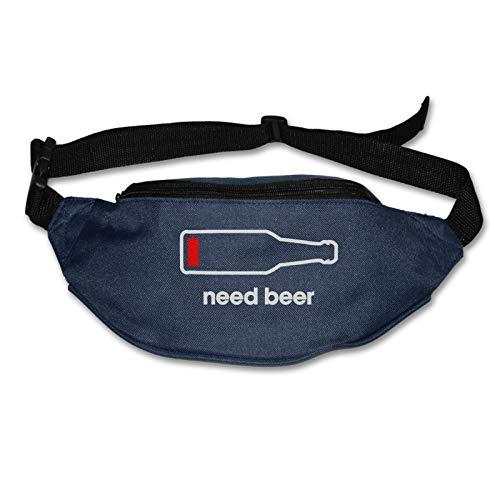 Tvox8x Need Beer Water Resistant Runners Belt Waist Pack For Men Women Jogging Hiking Fitness