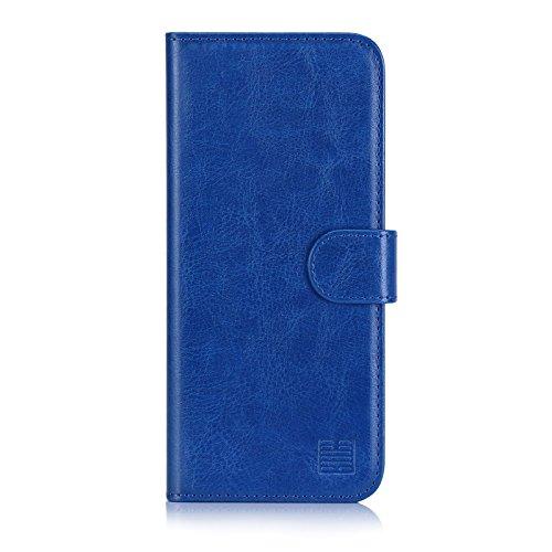 32nd Custodia a Portafoglio in Pelle PU per Samsung Galaxy A6 (2018), Case Realizzato in Pelle Sintetica con Diversi Comparti e Chiusura Magnetica - Blu